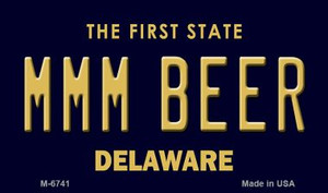 MMM Beer Delaware State License Plate Wholesale Magnet M-6741