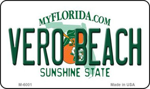Vero Beach Florida State License Plate Wholesale Magnet M-6001