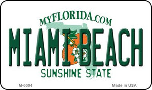 Miami Beach Florida State License Plate Wholesale Magnet M-6004