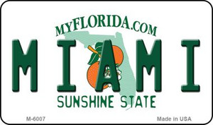 Miami Florida State License Plate Wholesale Magnet M-6007