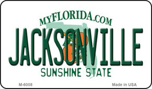 Jacksonville Florida State License Plate Wholesale Magnet M-6008