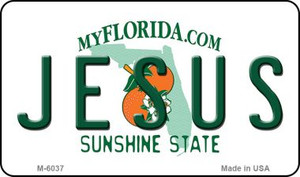 Jesus Florida State License Plate Wholesale Magnet M-6037