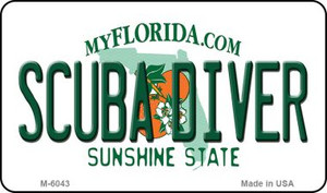 Scuba Diver Florida State License Plate Wholesale Magnet M-6043
