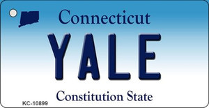 Yale Connecticut State License Plate Wholesale Key Chain KC-10899