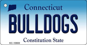 Bulldogs Connecticut State License Plate Wholesale Key Chain KC-10900