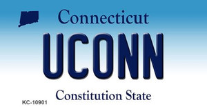 Uconn Connecticut State License Plate Wholesale Key Chain KC-10901