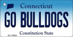Go Bulldogs Connecticut State License Plate Wholesale Key Chain KC-10904