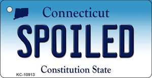 Spoiled Connecticut State License Plate Wholesale Key Chain KC-10913