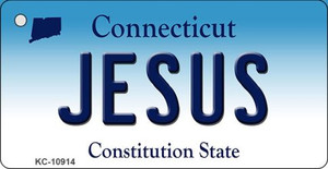 Jesus Connecticut State License Plate Wholesale Key Chain KC-10914