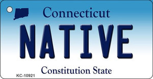 Native Connecticut State License Plate Wholesale Key Chain KC-10921