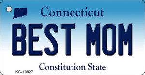 Best Mom Connecticut State License Plate Wholesale Key Chain KC-10927