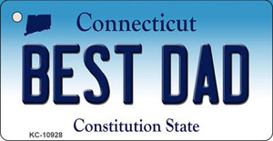 Best Dad Connecticut State License Plate Wholesale Key Chain KC-10928