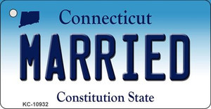 Married Connecticut State License Plate Wholesale Key Chain KC-10932
