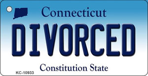 Divorced Connecticut State License Plate Wholesale Key Chain KC-10933
