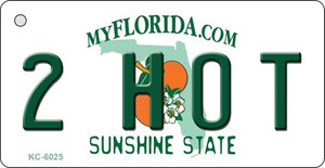 2 Hot Florida State License Plate Wholesale Key Chain KC-6025