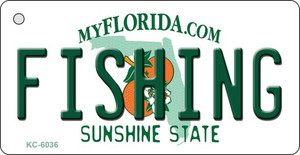 Fishing Florida State License Plate Wholesale Key Chain KC-6036