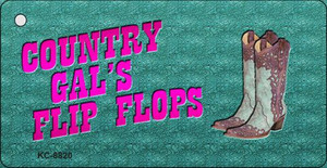 Country Gal's Flip Flops Wholesale Key Chain KC-8820
