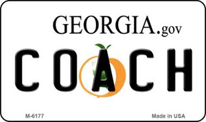 Coach Georgia State License Plate Novelty Wholesale Magnet M-6177
