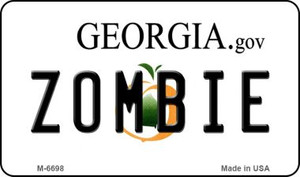 Zombie Georgia State License Plate Novelty Wholesale Magnet M-6698