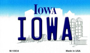 Iowa State License Plate Novelty Wholesale Magnet M-10934