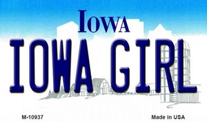 Iowa Girl State License Plate Novelty Wholesale Magnet M-10937