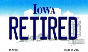 Retired Iowa State License Plate Novelty Wholesale Magnet M-10954