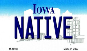 Native Iowa State License Plate Novelty Wholesale Magnet M-10963