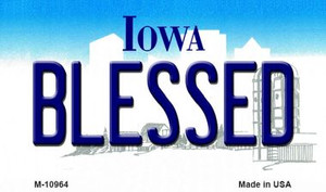 Blessed Iowa State License Plate Novelty Wholesale Magnet M-10964