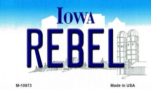 Rebel Iowa State License Plate Novelty Wholesale Magnet M-10973