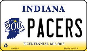 Pacers Indiana State License Plate Novelty Wholesale Magnet M-6365