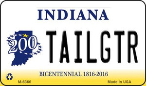 Tailgtr Indiana State License Plate Novelty Wholesale Magnet M-6366