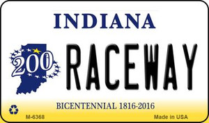 Raceway Indiana State License Plate Novelty Wholesale Magnet M-6368