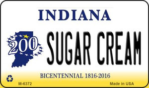 Sugar Cream Indiana State License Plate Novelty Wholesale Magnet M-6372
