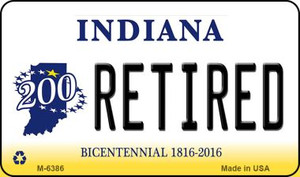 Retired Indiana State License Plate Novelty Wholesale Magnet M-6386