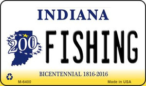 Fishing Indiana State License Plate Novelty Wholesale Magnet M-6400