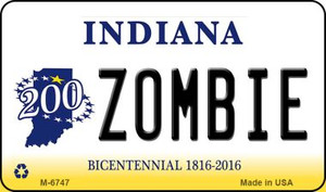 Zombie Indiana State License Plate Novelty Wholesale Magnet M-6747