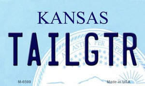 Tailgtr Kansas State License Plate Novelty Wholesale Magnet M-6599
