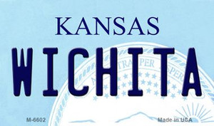 Wichita Kansas State License Plate Novelty Wholesale Magnet M-6602