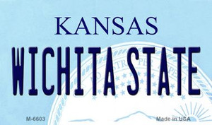 Wichita State Kansas State License Plate Novelty Wholesale Magnet M-6603