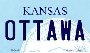 Ottawa Kansas State License Plate Novelty Wholesale Magnet M-6607