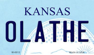 Olathe Kansas State License Plate Novelty Wholesale Magnet M-6612