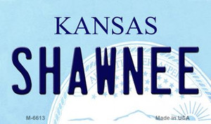 Shawnee Kansas State License Plate Novelty Wholesale Magnet M-6613
