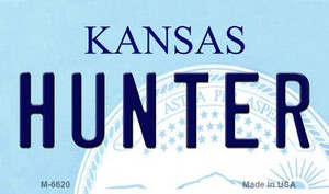 Hunter Kansas State License Plate Novelty Wholesale Magnet M-6620