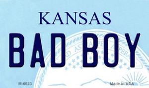 Bad Boy Kansas State License Plate Novelty Wholesale Magnet M-6623