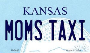 Moms Taxi Kansas State License Plate Novelty Wholesale Magnet M-6626