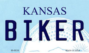 Biker Kansas State License Plate Novelty Wholesale Magnet M-6638