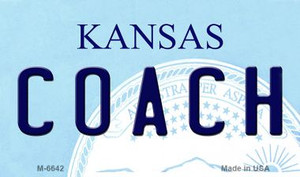 Coach Kansas State License Plate Novelty Wholesale Magnet M-6642