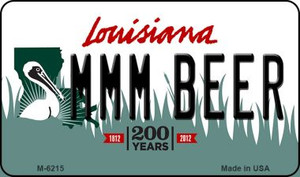 MMM Beer Louisiana State License Plate Novelty Wholesale Magnet M-6215
