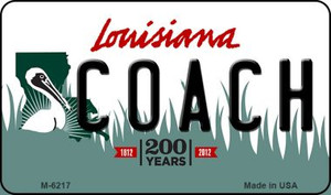 Coach Louisiana State License Plate Novelty Wholesale Magnet M-6217