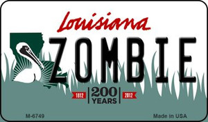 Zombie Louisiana State License Plate Novelty Wholesale Magnet M-6749
